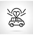 Auto insurance black line design icon vector image