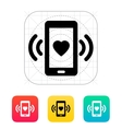 Romantic phone call icon vector image