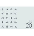 Set of bicycle icons vector image