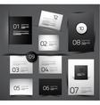 Set of modern web shadow design templates vector image