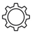 settings line icon web and mobile cog sign vector image