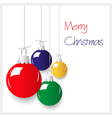 Shiny colors christmas decoration baubles hanging vector image