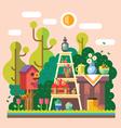 Summer in the garden vector image