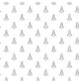 unique digital road cones seamless pattern with vector image
