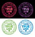 100% true love stamp vector image