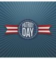Patriot Day memorial realistic Badge vector image