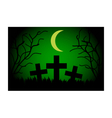 Cemetery at night vector image vector image