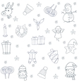 Christmas set with hand draw of doodles vector image