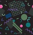 stylish memphis seamless pattern vector image vector image