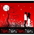 landscape at night vector image vector image
