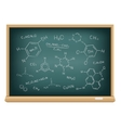 board chemical formula vector image