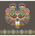 Neckline ornate floral paisley embroidery fashion vector image vector image