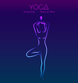 Yoga pose womans silhouette vector image vector image