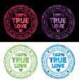 100% true love stamp vector image vector image