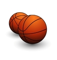 basketball ball sign vector image vector image