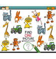 educational task for preschoolers vector image