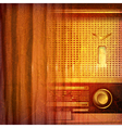 abstract grunge music background with retro radio vector image