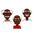 Cartoon joyful seniors and old men vector image