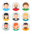 Flat Avatar Character Icons Set 1 vector image