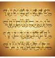 Glowing Neon Golden Alphabet vector image