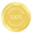 Gold guarantee stamp vector image