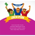 Group of sport fans vector image