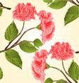 Seamless texture pink hibiscus stem vector image