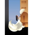 Spain Flamenco dancer on city landscape vector image