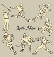 Sport Action Vintage Drawing Style vector image