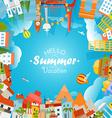 Travel concept Hello summer vacation vector image