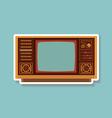 Vintage TV 1 vector image