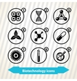Biotechnology icons vector image