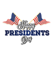 Happy presidential elections vector image