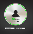 login button 2 vector image vector image