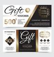 gift coupon royal design vector image
