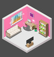 interior design of room for girl in isometric vector image