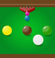 snooker billiard balls start position on the table vector image