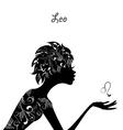 Zodiac sign leo fashion girl vector image vector image