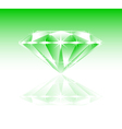 green diamond vector image
