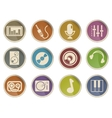 Audio  music icons vector image
