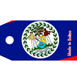Belize flag on price tag vector image