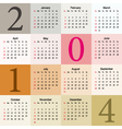 colorful calendar 2014 vector image