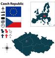 Czech Republic and European Union map vector image