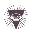 esoteric eye rune symbol vector image