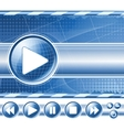 multimedia player controls vector image