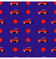 Pop art pattern with car vector image