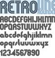 Retro Line stylish font alphabet vector image