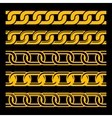 Set of Seamless Gold Chains Template Isolated on vector image