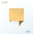 Speech bubble icon origami vector image