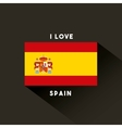 flag classic icon of Spanish culture vector image